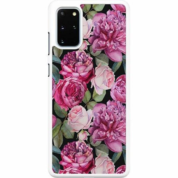 Samsung Galaxy S20 Plus Hard Case (Vit) Purple Florals