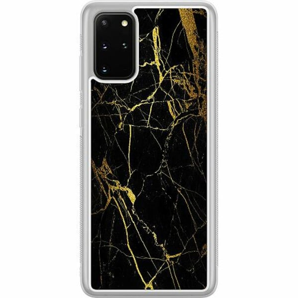 Samsung Galaxy S20 Plus Soft Case (Frostad) Marble Black&Gold