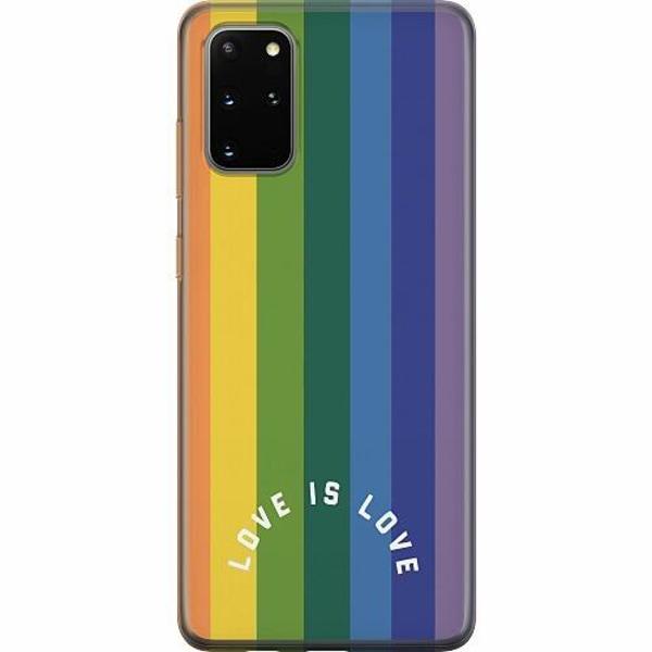 Samsung Galaxy S20 Plus Mjukt skal - Love is Love - Pride