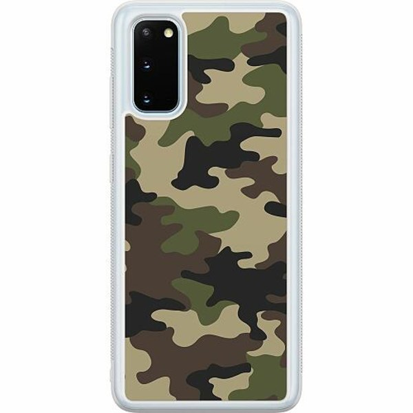 Samsung Galaxy S20 Soft Case (Frostad) Woodland Camo