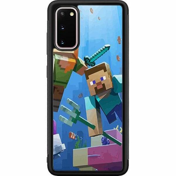 Samsung Galaxy S20 Soft Case (Svart) MineCraft