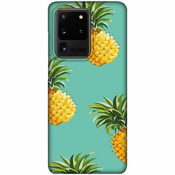 Samsung Galaxy S20 Ultra LUX Mobilskal (Matt) Pineapples Teal