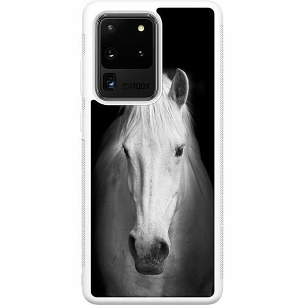 Samsung Galaxy S20 Ultra Soft Case (Vit) Häst