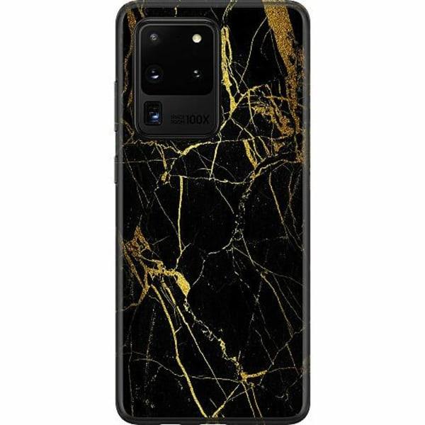 Samsung Galaxy S20 Ultra Thin Case Marble Black&Gold