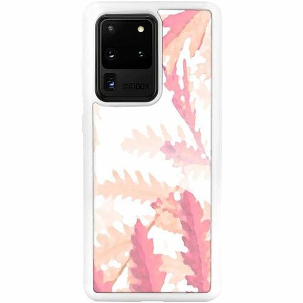 Samsung Galaxy S20 Ultra Vitt Mobilskal med Glas Autumn Comes