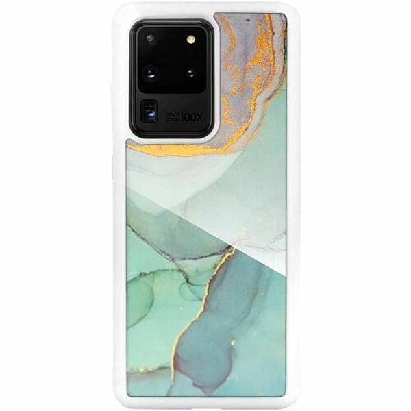 Samsung Galaxy S20 Ultra Vitt Mobilskal med Glas Coastline
