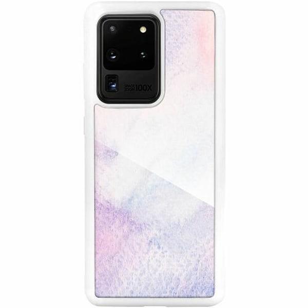 Samsung Galaxy S20 Ultra Vitt Mobilskal med Glas Frosted Frost
