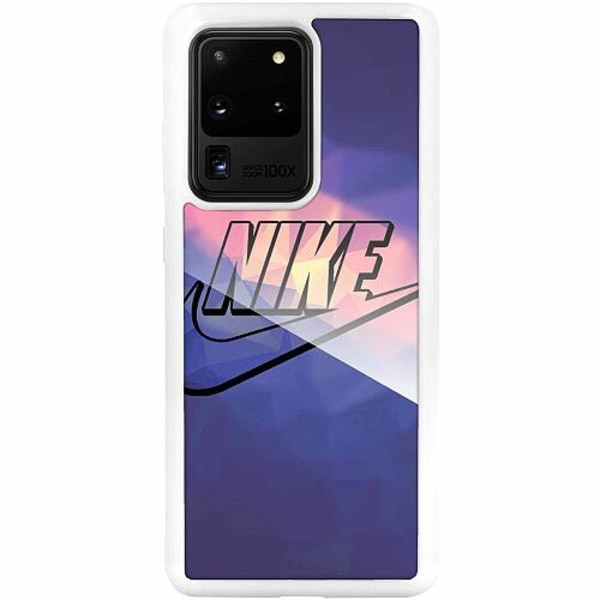 Samsung Galaxy S20 Ultra Vitt Mobilskal med Glas Nike
