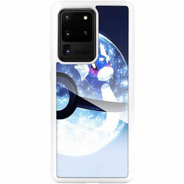 Samsung Galaxy S20 Ultra Vitt Mobilskal med Glas Pokemon