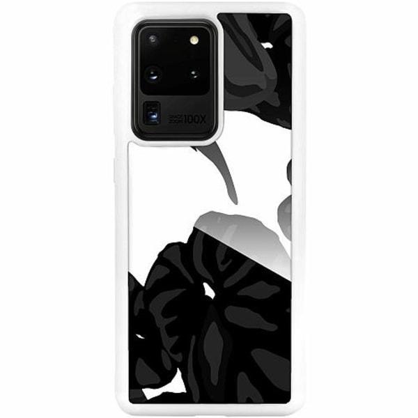 Samsung Galaxy S20 Ultra Vitt Mobilskal med Glas Wandah