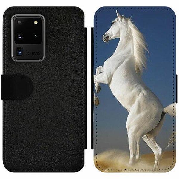 Samsung Galaxy S20 Ultra Wallet Slim Case Häst / Horse