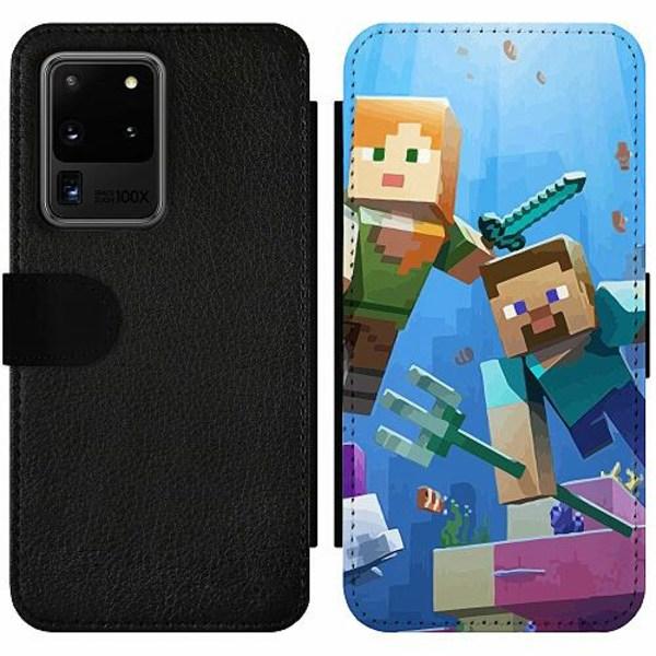 Samsung Galaxy S20 Ultra Wallet Slim Case MineCraft