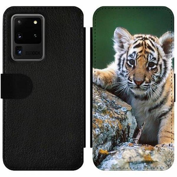Samsung Galaxy S20 Ultra Wallet Slim Case Tiger