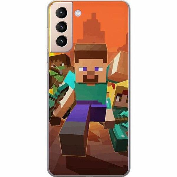 Samsung Galaxy S21+ Thin Case MineCraft