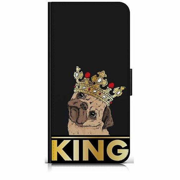 Huawei Y6 (2018) Plånboksfodral KING of all Pugs