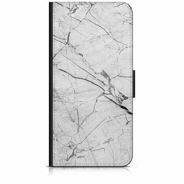 Apple iPhone 6 / 6S Plånboksfodral Marmor Vit