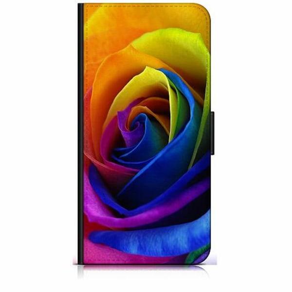 Apple iPhone 11 Pro Max Plånboksfodral Rainbow Rose