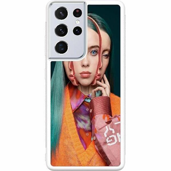 Samsung Galaxy S21 Ultra Soft Case (Vit) Billie Eilish 2021