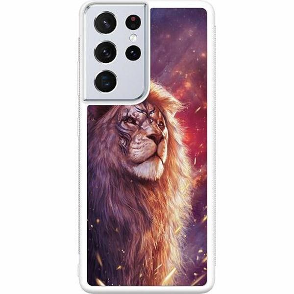 Samsung Galaxy S21 Ultra Soft Case (Vit) Lion