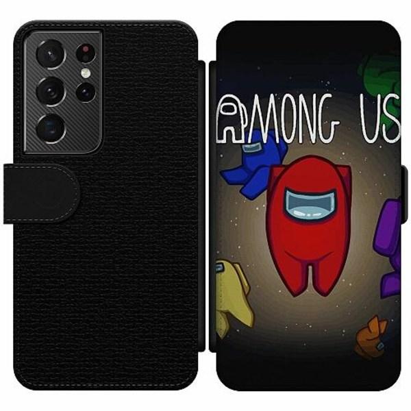 Samsung Galaxy S21 Ultra Wallet Slim Case Among Us