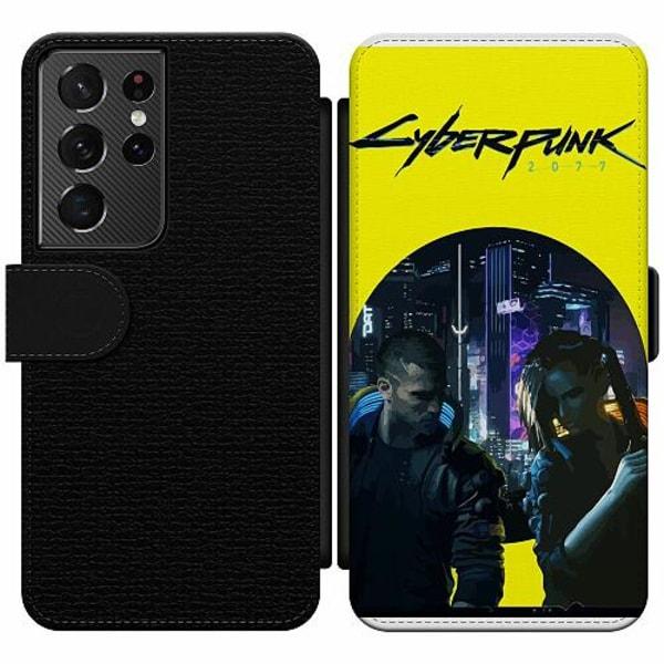 Samsung Galaxy S21 Ultra Wallet Slim Case Cyberpunk 2077