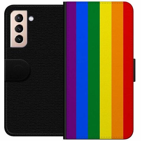 Samsung Galaxy S21 Wallet Case Pride Flagga