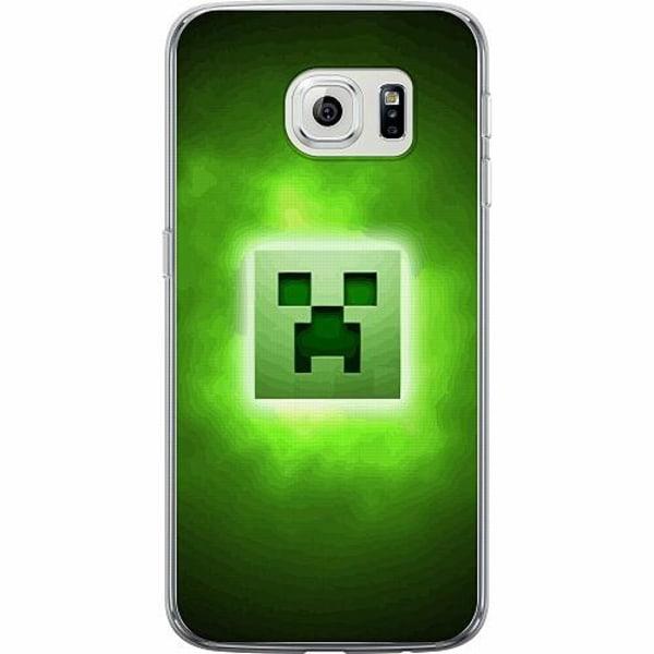 Samsung Galaxy S6 Edge Thin Case MineCraft Rainbow