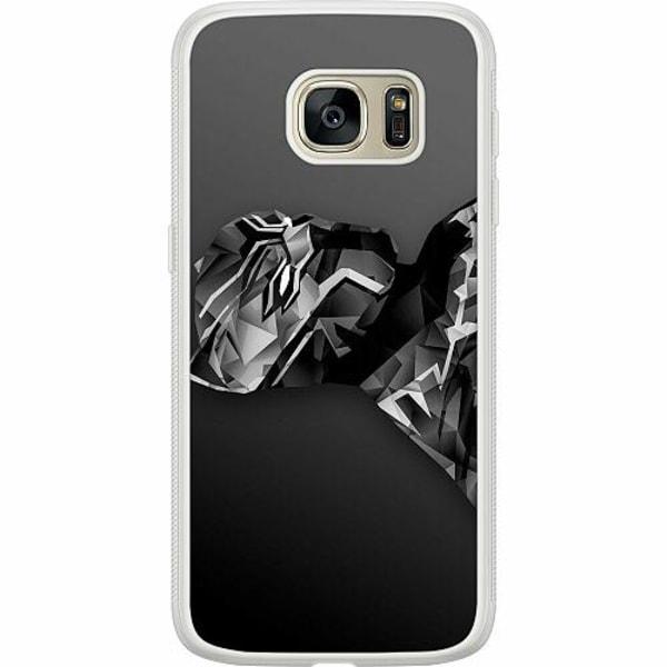 Samsung Galaxy S7 Soft Case (Frostad) Black Panther