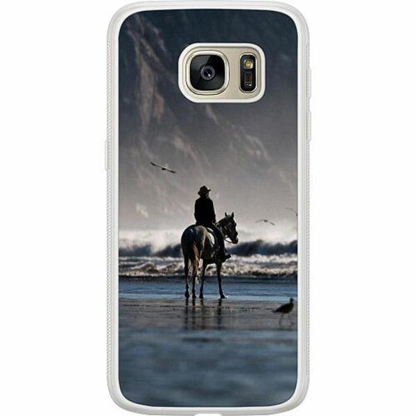 Samsung Galaxy S7 Soft Case (Frostad) Häst / Horse