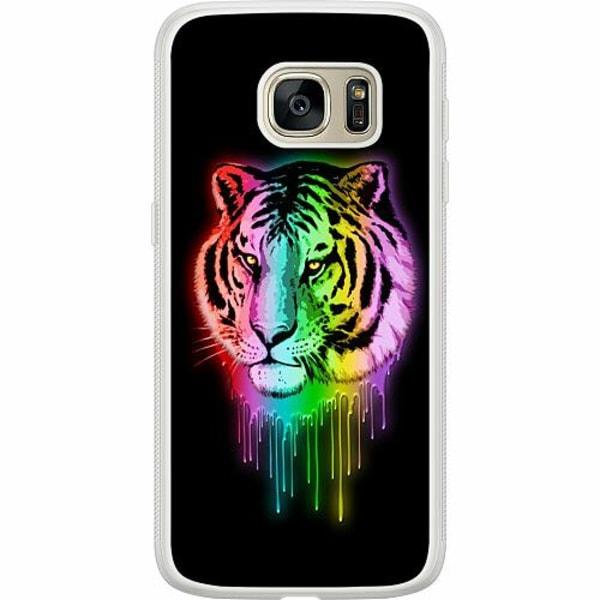 Samsung Galaxy S7 Soft Case (Frostad) Neon Tiger
