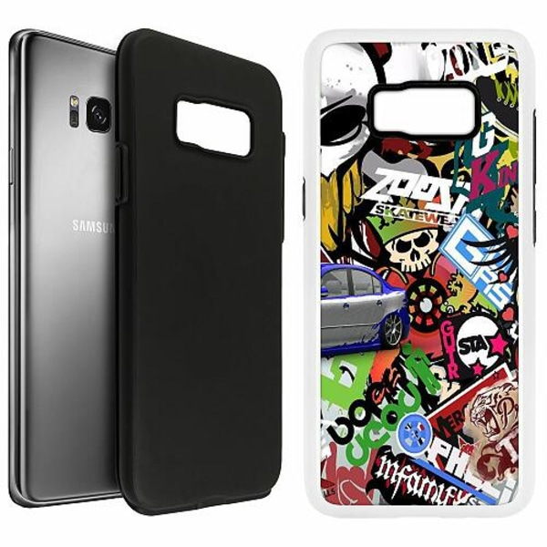 Samsung Galaxy S8 Duo Case Vit Stickers