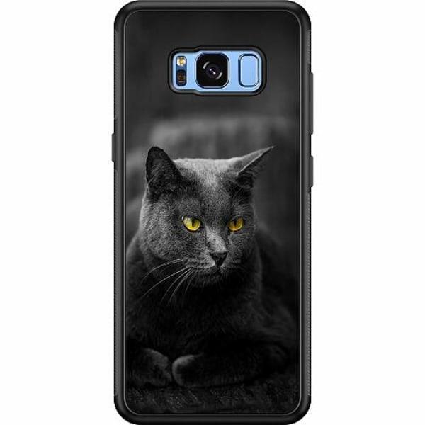 Samsung Galaxy S8 Soft Case (Svart) Black Cat