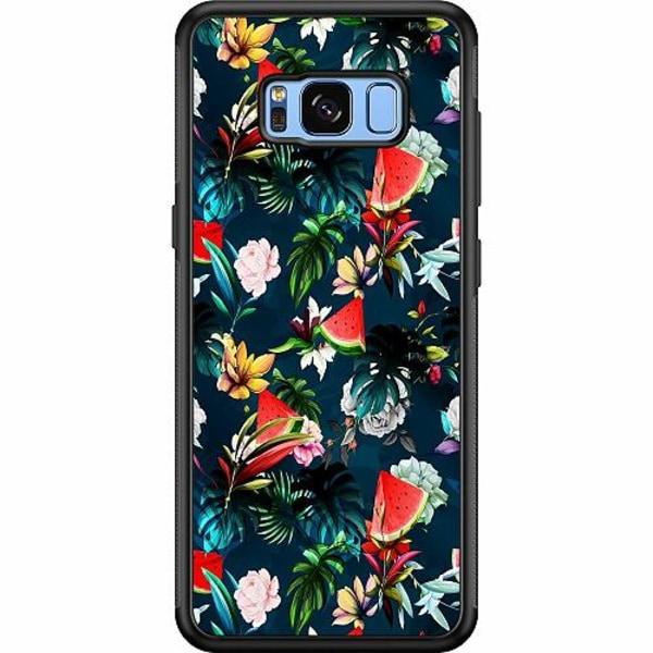 Samsung Galaxy S8 Soft Case (Svart) Blommor