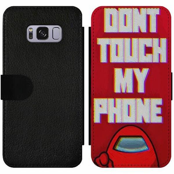 Samsung Galaxy S8 Wallet Slim Case Among Us