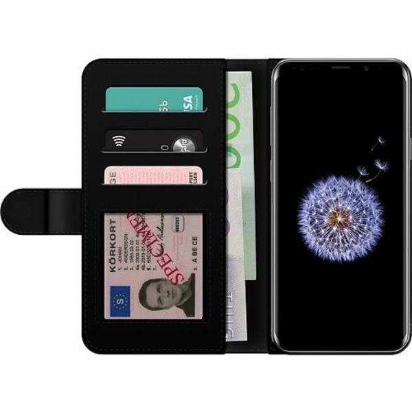 Samsung Galaxy S9+ Billigt Fodral Floral Pattern Black