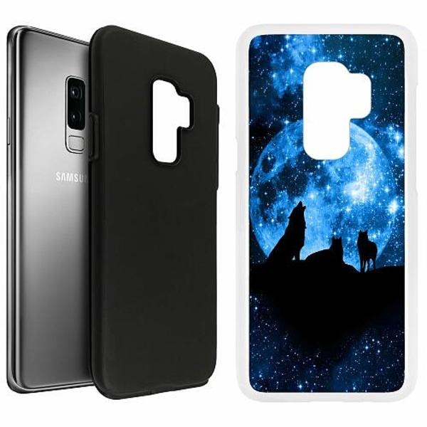Samsung Galaxy S9+ Duo Case Vit Statement Wolf 1055