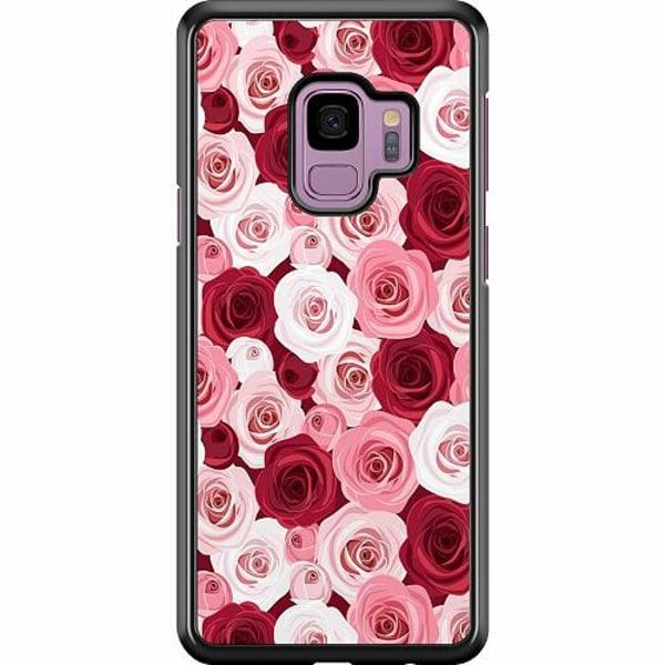 Samsung Galaxy S9 Hard Case (Svart) Blommor