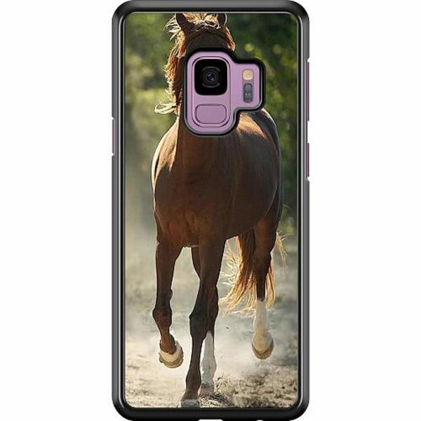 Samsung Galaxy S9 Hard Case (Svart) Häst / Horse
