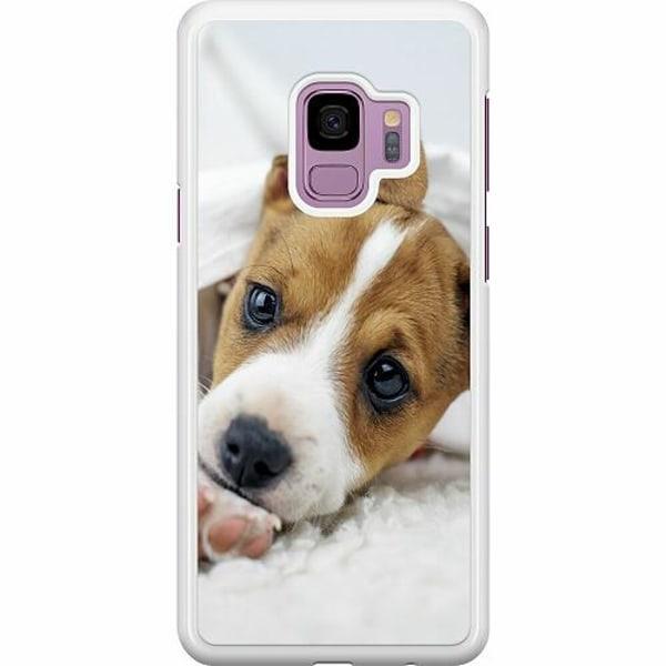 Samsung Galaxy S9 Hard Case (Vit) Cute Puppy