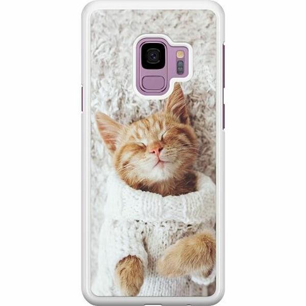 Samsung Galaxy S9 Hard Case (Vit) Katt