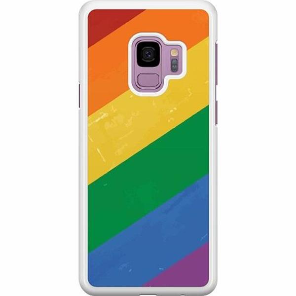 Samsung Galaxy S9 Hard Case (Vit) Love is Love - Pride