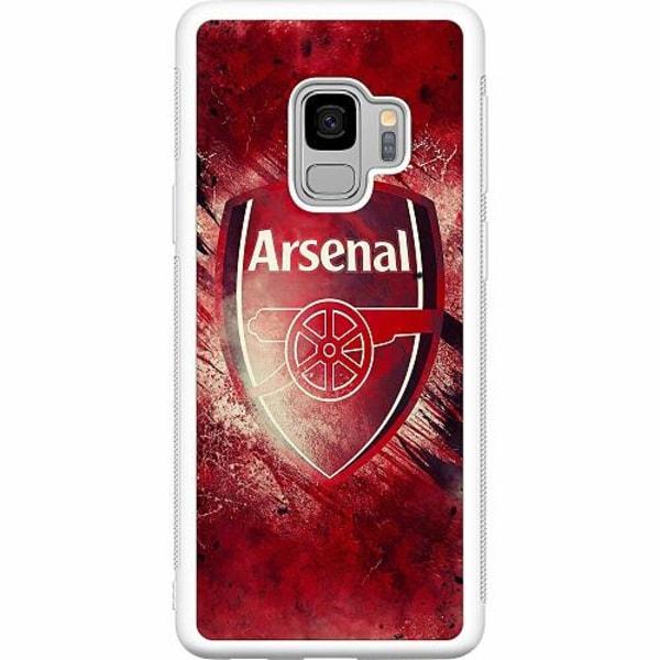 Samsung Galaxy S9 Soft Case (Vit) Arsenal Football