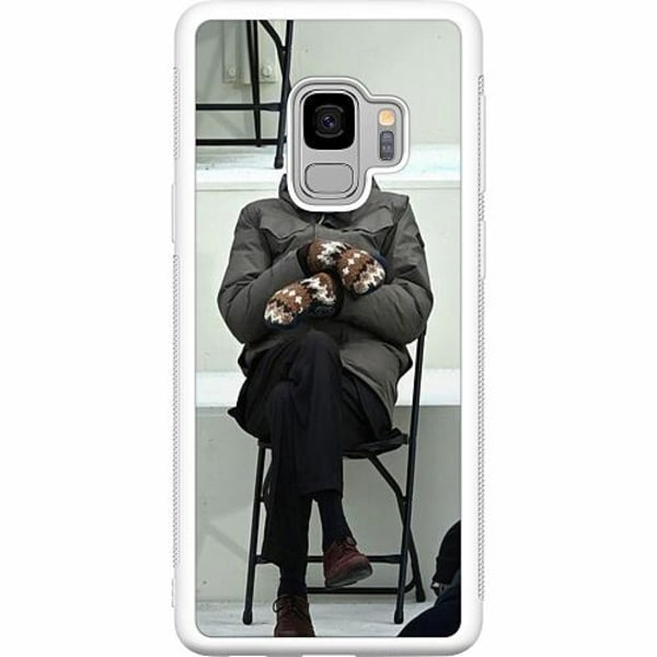 Samsung Galaxy S9 Soft Case (Vit) Bernie Sanders Meme