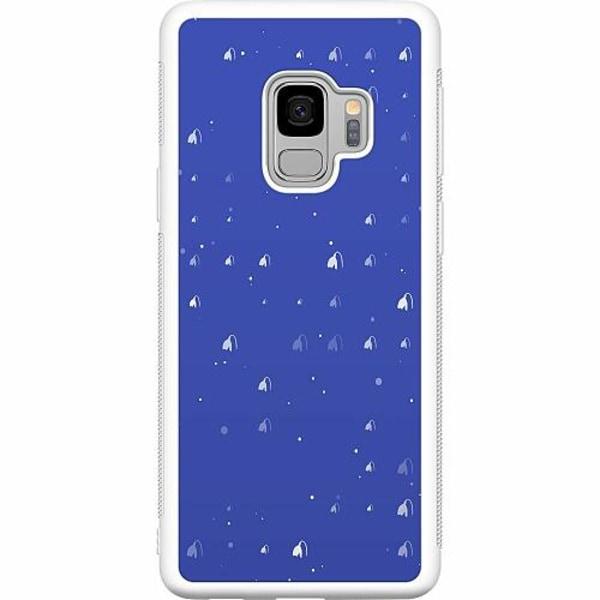 Samsung Galaxy S9 Soft Case (Vit) Bubbles Invaders