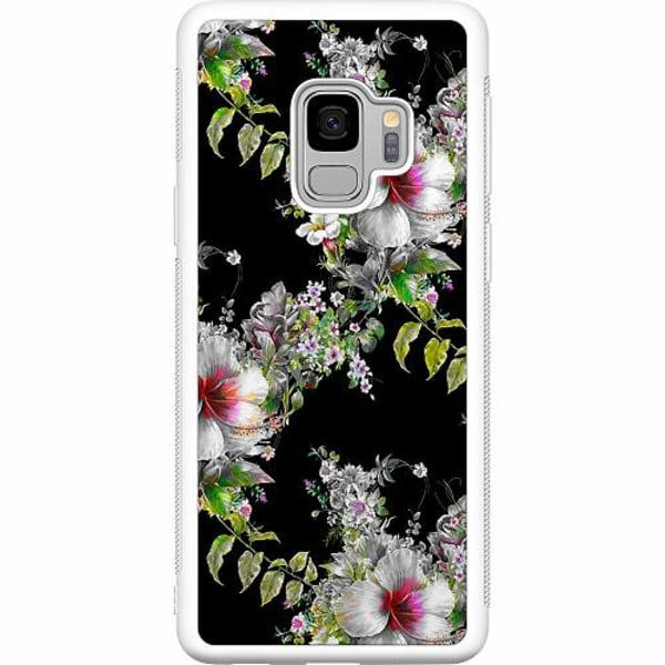 Samsung Galaxy S9 Soft Case (Vit) Flower star