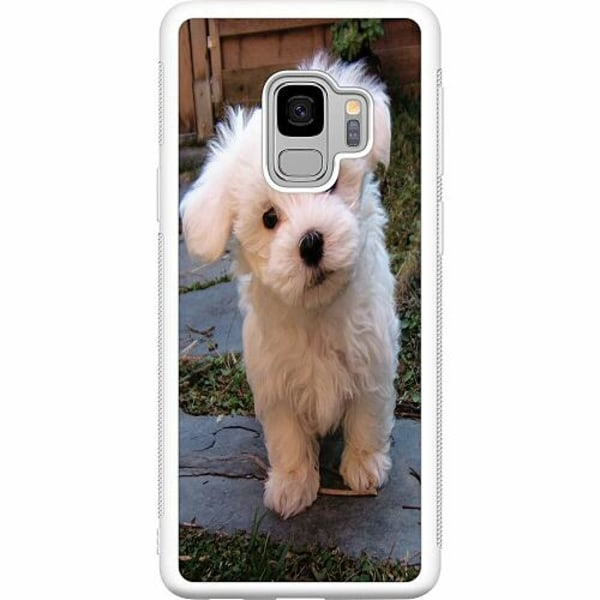 Samsung Galaxy S9 Soft Case (Vit) Hund