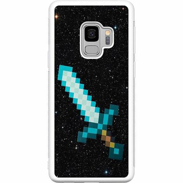 Samsung Galaxy S9 Soft Case (Vit) Minecraft Svärd