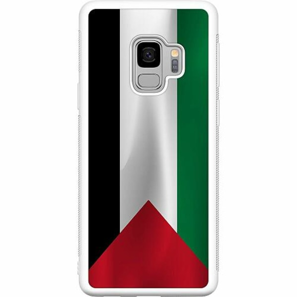 Samsung Galaxy S9 Soft Case (Vit) Palestina Flagga