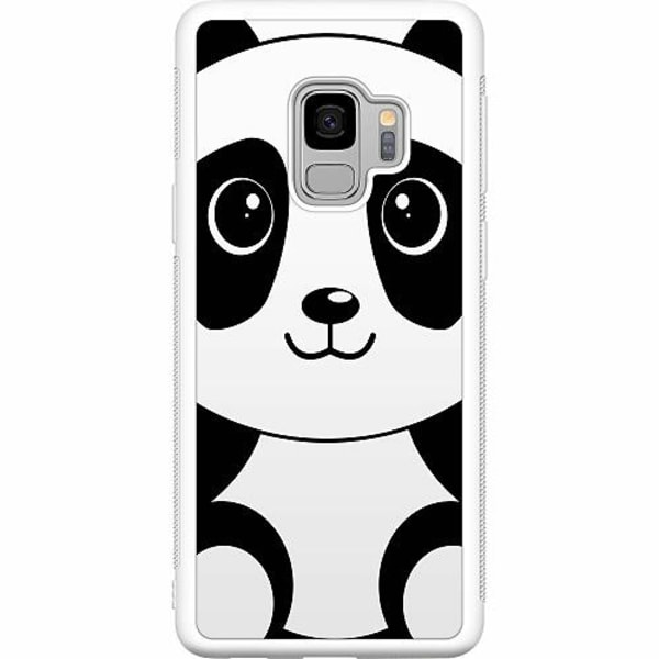 Samsung Galaxy S9 Soft Case (Vit) Panda
