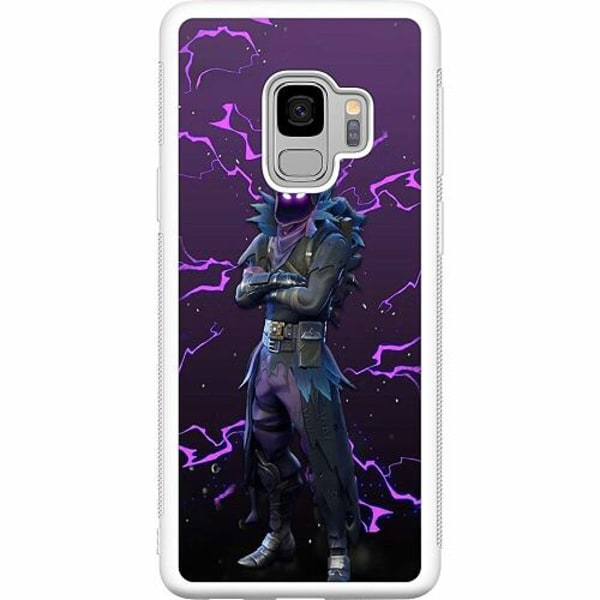Samsung Galaxy S9 Soft Case (Vit) Raven Fortnite Thunder